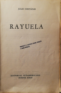 Rayuela frontespizio